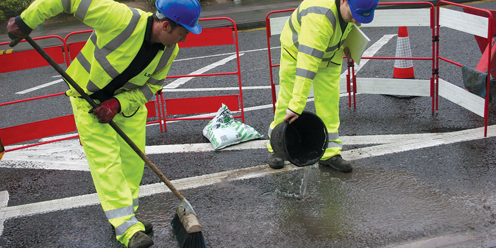LMS cleaning Road After Job